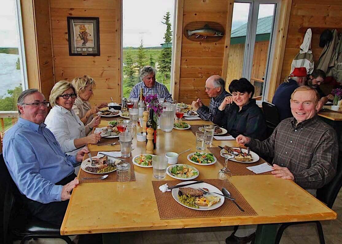 Bristol Bay fishing lodge all inclusive lodge meals in Alaska