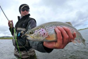 Catching rainbow trout in Alaska