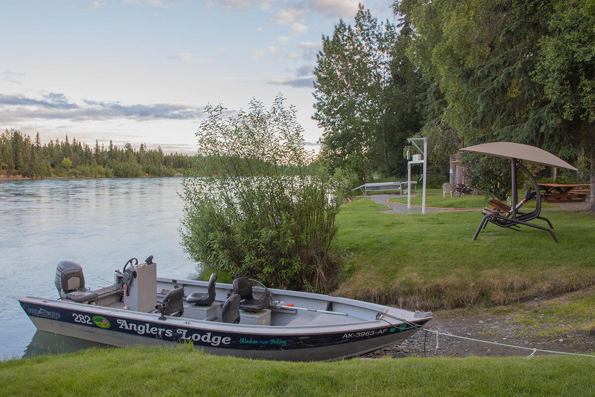 Kenai Peninsula fishing lodge boats and equipment in Alaska
