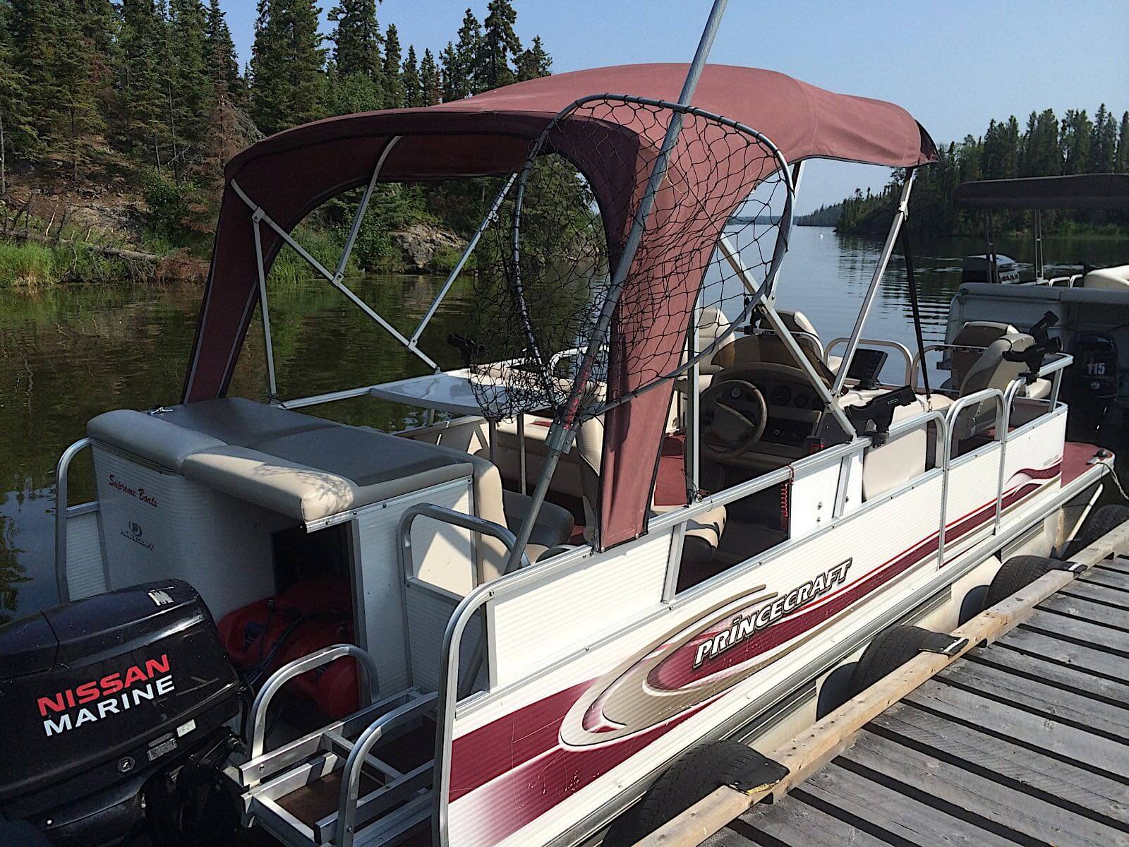 fishing lodge boats and equipment in Manitoba