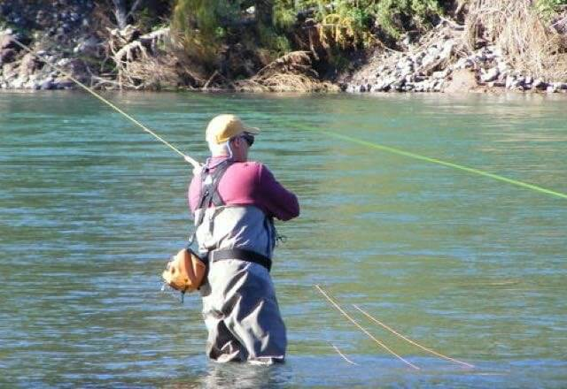 Fly fishing for salmon and trout in the central interior of BC Canada