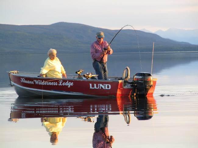 fishing lodge boats and equipment in Yukon