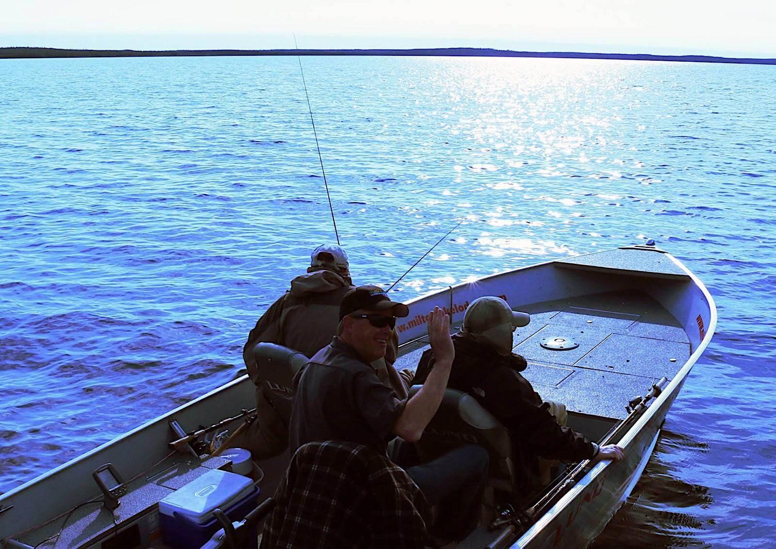fishing lodge boats and equipment in Saskatchewan