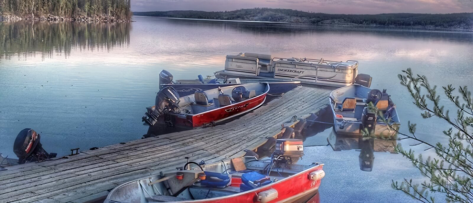 fishing lodge boats and equipment in Northwest Territories