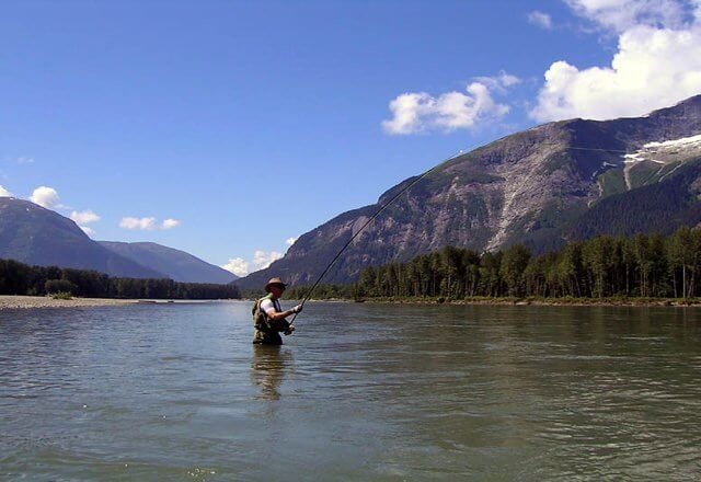 Fly fishing for trout in the northern interior of BC Canada