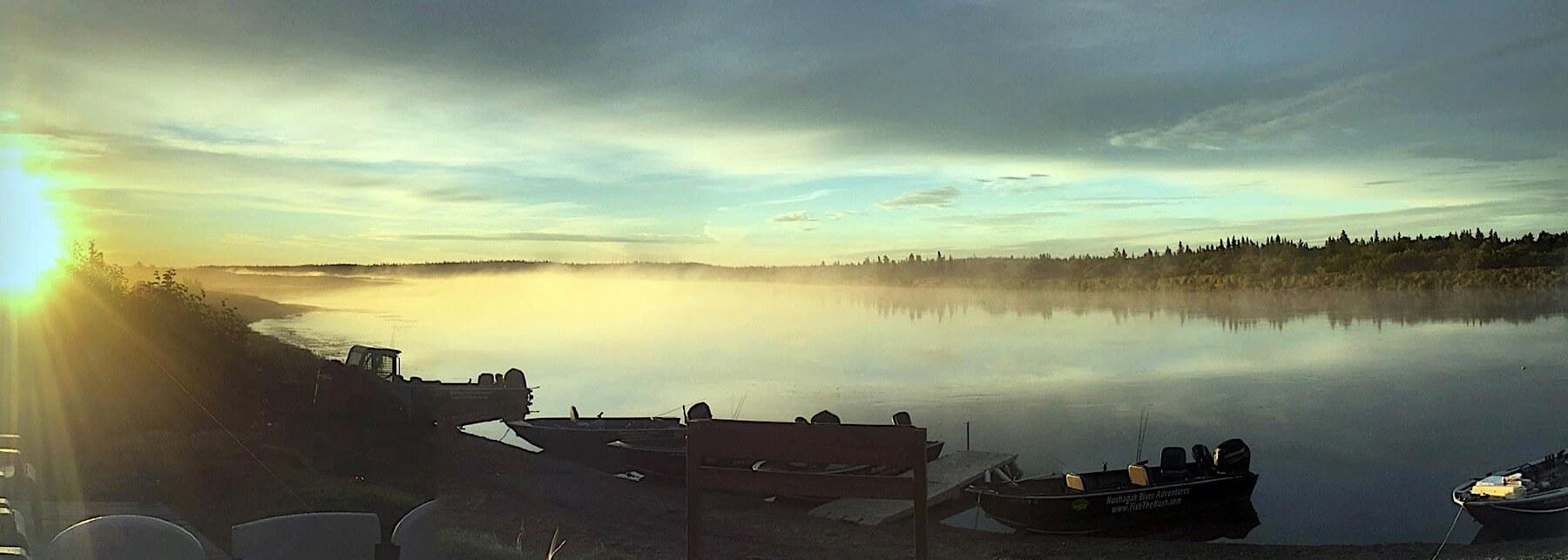 Bristol Bay fishing lodge boats and equipment in Alaska