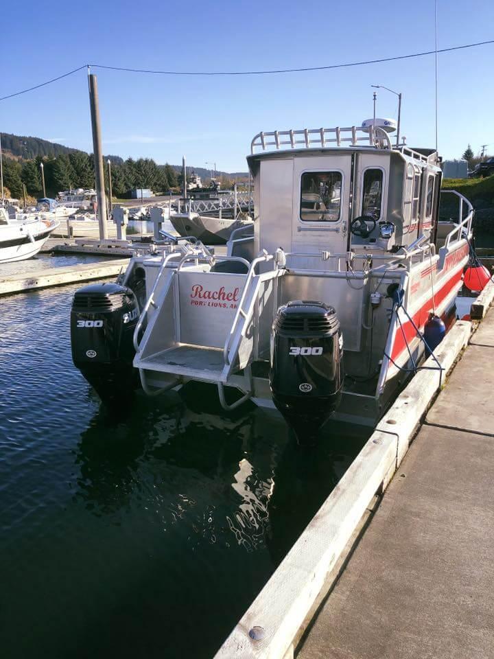 Kodiak Island fishing lodge boats and equipment in Alaska