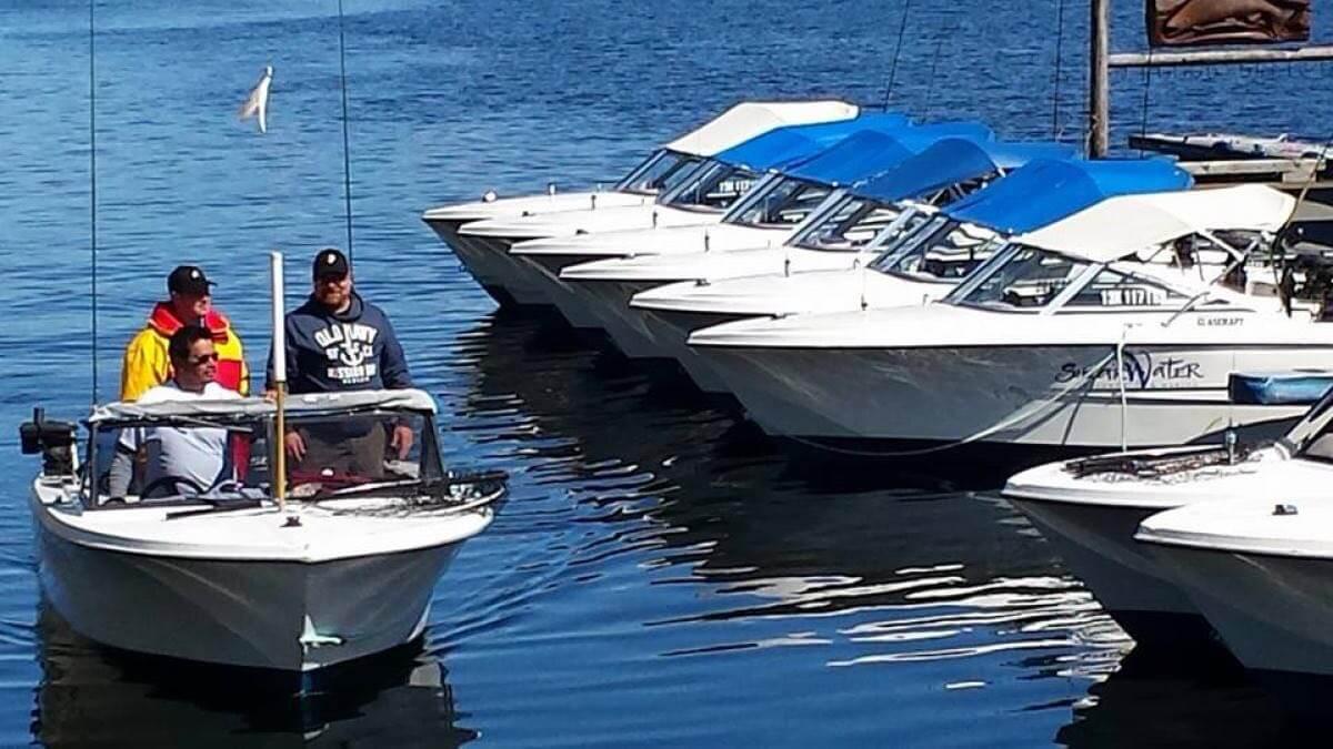 Haida Gwaii/North Coast fishing lodge boats and equipment in BC