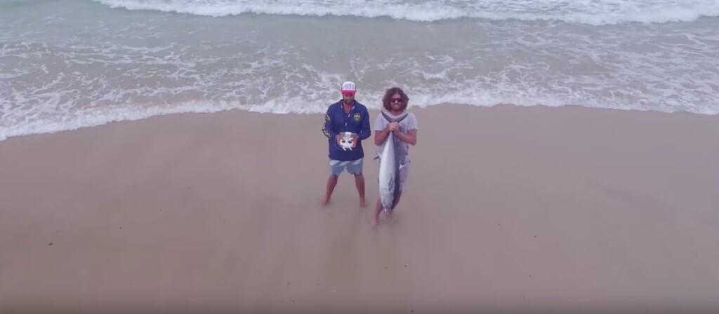 Tuna fishing by drone