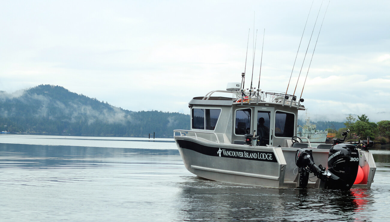 Vancouver Island/Gulf Islands fishing lodge boats and equipment in BC