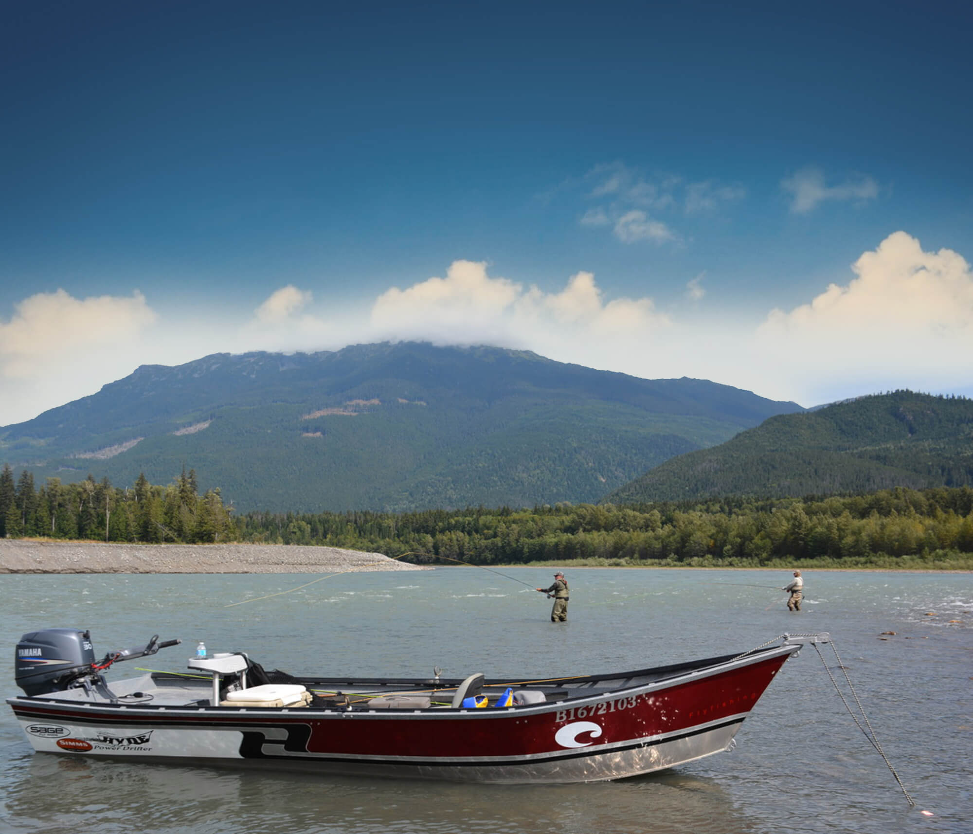 North/Central Interior fishing lodge boats and equipment in BC