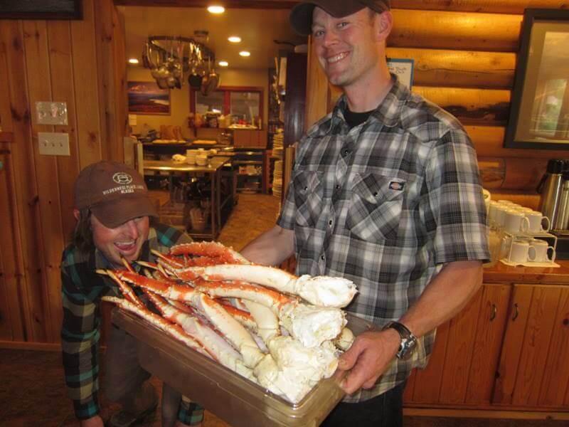 Alaskan Interior fishing lodge all inclusive lodge meals in Alaska